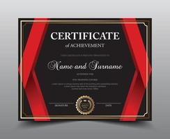 Black and red Border Certificate Template