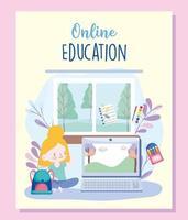 plantilla de tarjeta de educación en línea