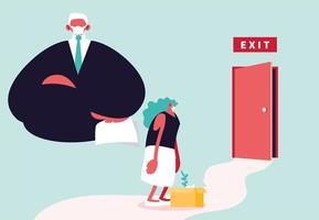 Big boss dismisses employee