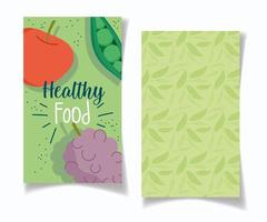 Restaurant banner with produce and leaves set vector