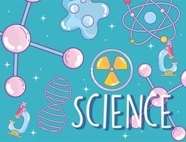 patrón temático de ciencia con letras