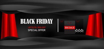 banner de oferta especial de promoción de gran venta de viernes negro