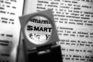 Magnified word smart photo