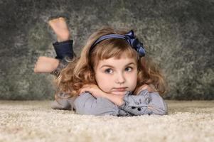 portrait of little cute girl photo