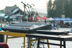 music console in the outdoor