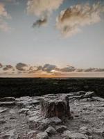Gray rocky shore  photo