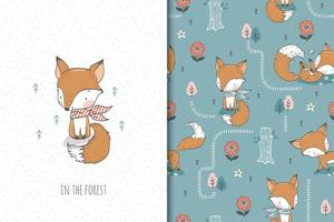 Baby fox with scarf vector