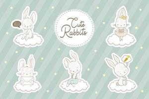 conjunto de coelhos bebê