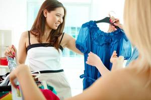 Choosing dress photo