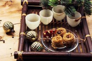 bandeja com doces de natal