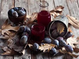 Homemade plum juice photo