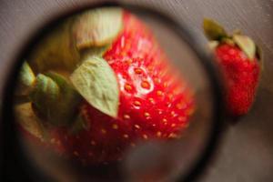 Healthy fresh strawberries photo