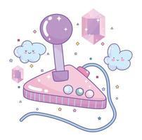 joystick de videojuego con gemas