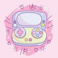 Kawaii handheld game console  vector