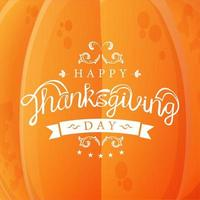 Happy Thanksgiving pumpkin template vector