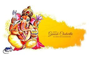 Happy Ganesh Chaturthi for Indian Festival Background