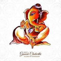 feliz festival indio ganesh chaturthi diseño creativo vector