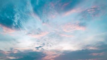 cielo colorido de algodón de azúcar