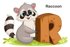 R for Raccoon vector