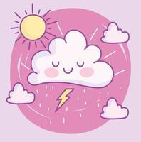 Cute cartoony clouds vector