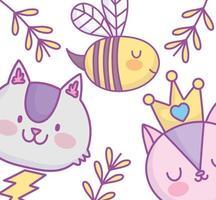 lindos animales pequeños tarjeta de felicitación