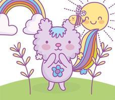 personagem animal kawaii ao ar livre