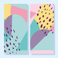 Contemporary abstract banners