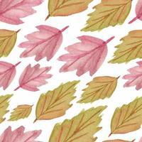 acuarela de patrones sin fisuras con hojas de otoño