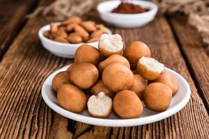 Homemade Marzipan Potatoes (German cuisine) photo