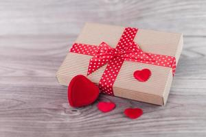 Cute gift on valentine's day photo