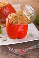 Stuffed bell pepper.
