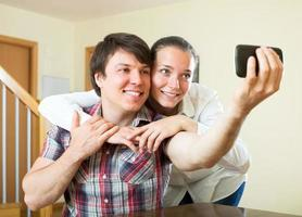 couple posing for a selfie