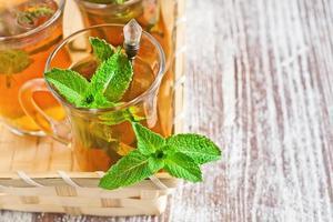 Turkish tea with mint