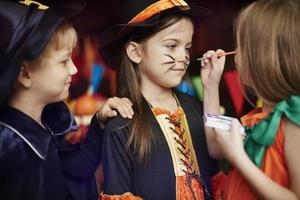 Children love face painting games