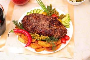 Appetizing roasted fillet of pork