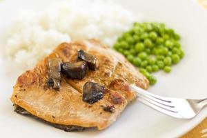 Salmon with Portobello Mushrooms