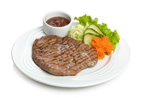 Well-done juicy steak photo