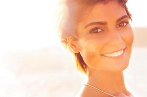 Smiling Girl At Sea