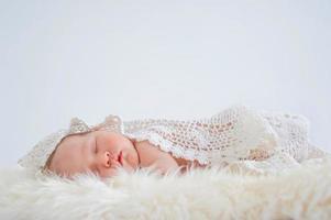 little baby sleeping sweetly photo