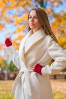 Elegant confident young woman