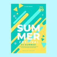 Sommerfestplakatvorlage vektor