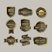 Quality Golden Insignia vector
