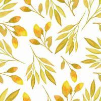 Seamless pattern watercolor leaves
