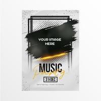 affiche d'événement de musique moderne vecteur