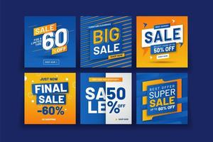 Promotion Square Banner Collection vector