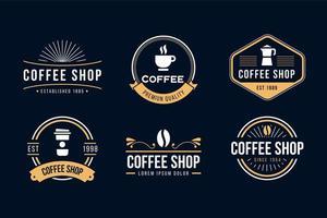 Coffee Shop Retro Set vector