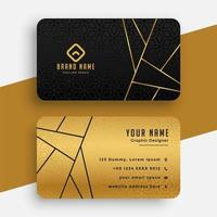 Black and Gold Vip Business Card vector
