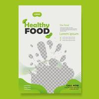 Healthy Food Flyer Template vector