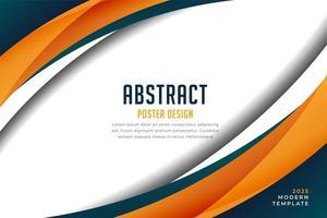 Wave Presentation Background vector