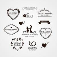 Elements for Wedding Invitation vector